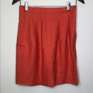 J.Crew Skirt Size 2 High Waisted Coral